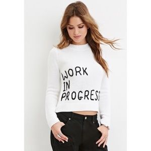FOREVER 21 Work In Progress Knitted Sweater